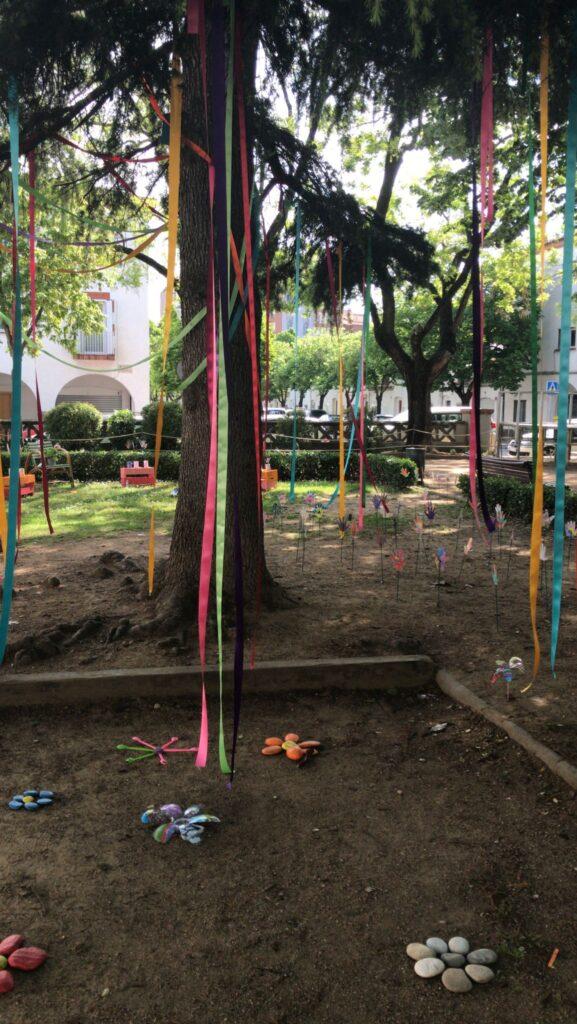 Espai de la Plaça Assumpció decorat